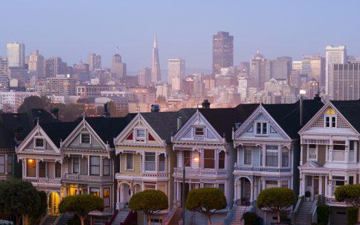 San Francisco and the Neighborhood panoramic style